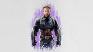 Фото Мстители: Война бесконечности Капитан Америка герой Рисованные Chris Evans Фильмы Знаменитости