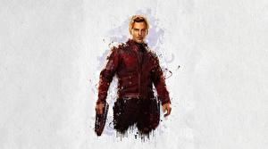 Обои Мстители: Война бесконечности Рисованные Крис Прэтт Star-Lord Фильмы