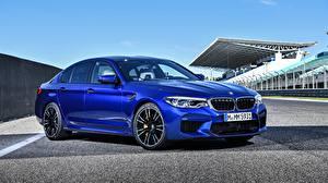 Фотографии BMW Синий Седан M5 Машины