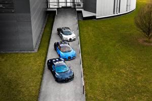 Обои BUGATTI Втроем Металлик Сверху 2016-18 Chiron Worldwide Автомобили