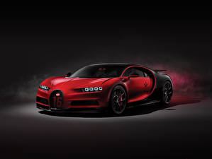 Картинки BUGATTI Красный 2018 Chiron Sport Worldwide Авто
