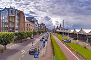 Обои Бельгия Дома Дороги Улица Antwerpen Города