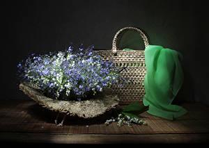 Фотографии Букеты Ландыши Сумка Незабудка Цветы