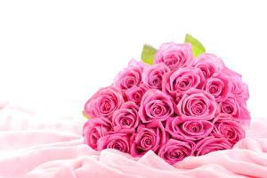 Обои Букеты Розы Вблизи Розовый