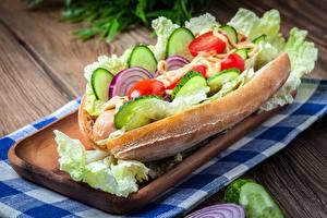 Фотографии Бутерброды Овощи