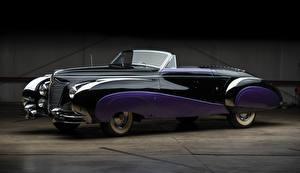 Картинка Cadillac Винтаж Кабриолет Металлик 1948 Sixty-Two Convertible by Saoutchik Машины