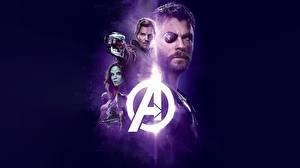 Фотография Крис Эванс Chris Hemsworth Мстители: Война бесконечности Повязка на глаз Кино Фильмы