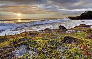 Фото Берег Рассветы и закаты Волны