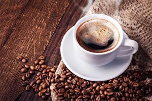 Обои Кофе Доски Чашка Зерна Еда