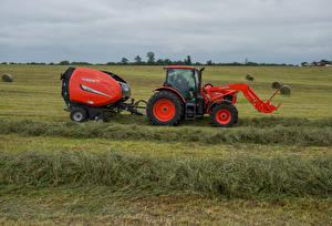 Фотографии Поля Сельскохозяйственная техника Трактор 2015-17 Kubota M6-141