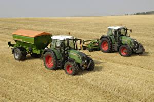 Обои Поля Сельскохозяйственная техника 2 Трактор Fendt 311 Vario, Fendt 716 Vario Природа