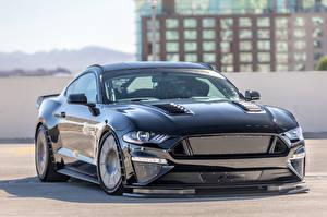 Фото Ford Металлик Черный 2017 Tucci Mustang Fastback Автомобили
