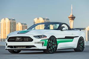 Картинка Ford Белый Кабриолет 2018 MAD Industries Mustang Convertible Автомобили