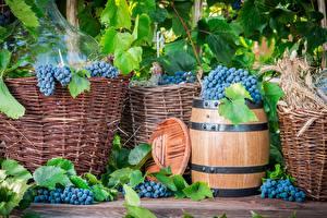 Обои Виноград Бочка Пища