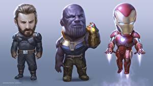 Картинка Железный человек герой Капитан Америка герой Мстители: Война бесконечности Thanos Фильмы