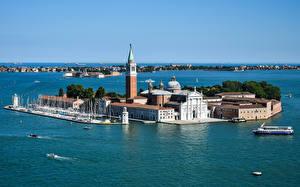 Фото Италия Остров Здания Венеция San Marco