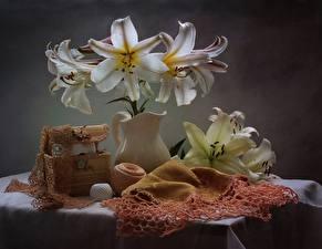 Фотография Лилии Натюрморт Кувшин Цветы
