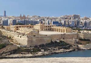 Обои Мальта Дома Крепость Manoel Fort