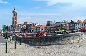 Фотографии Нидерланды Здания Петунья Улица Roermond Города