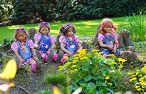 Фотография Парк Кукла Девочки Очках Grugapark Essen Природа