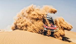 Картинки Peugeot Ралли Песок машины