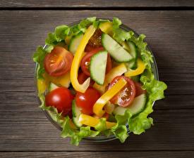 Фотографии Салаты Овощи Еда