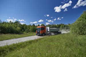 Обои Scania Грузовики 2017 R 500 XT 6×4 with tipper semitrailer Автомобили