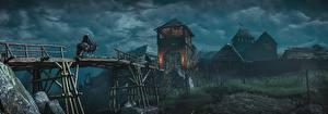 Фотография The Witcher 3: Wild Hunt Мосты Деревня Игры