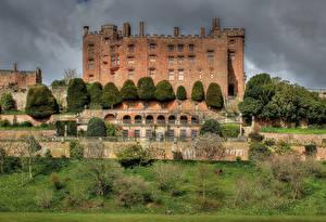 Фотографии Великобритания Замок Кусты Уэльс Powis Castle Города
