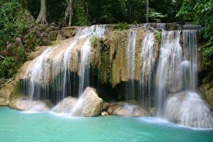 Картинки Водопады Утес