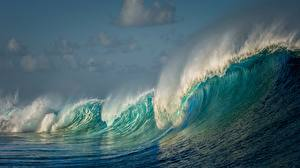 Фотографии Волны Море Природа