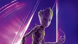 Картинки Мстители: Война бесконечности Стражи Галактики. Часть 2 Groot Фильмы