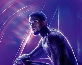 Фото Мстители: Война бесконечности Мужчины Негр Chadwick Boseman кино Знаменитости