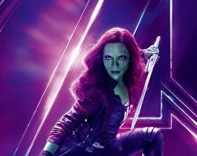 Фотография Мстители: Война бесконечности Зои Салдана Gamora Кино Девушки