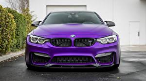 Фото БМВ Спереди Фиолетовый Vorsteiner 2018 GTS F82 M4 Автомобили