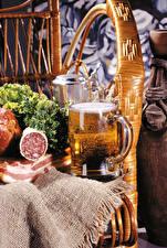 Фотография Пиво Колбаса Кружка Пища