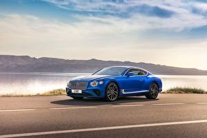 Обои Бентли Синий 2017 Continental GT Worldwide Авто
