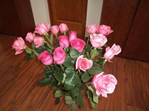 Фото Букеты Розы Розовый