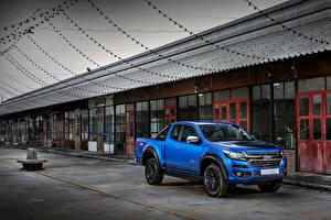 Фотографии Шевроле Пикап кузов Синий 2018 Colorado  Centennial XCab TH-spec Автомобили