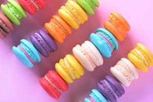 Картинка Печенье Макарон Разноцветные Продукты питания