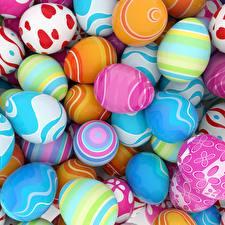 Фото Пасха Яйца Разноцветные