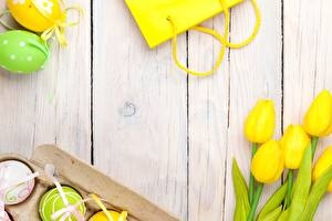 Картинки Пасха Тюльпаны Яйца Цветы