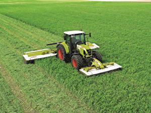 Картинки Поля Сельскохозяйственная техника Трактор 2007-13 Claas Arion 630C