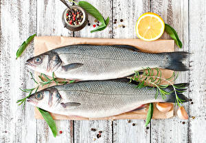 Обои Рыба Лимоны Чеснок Доски 2
