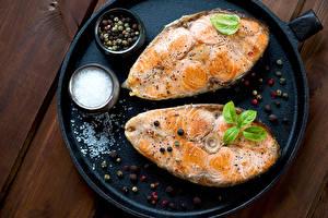 Картинка Рыба Приправы Соль Пища