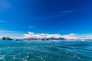 Фотография Исландия Море Небо Auster-Skaftafellssysla Природа
