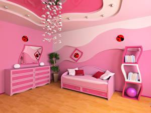 Фото Интерьер Детская комната Дизайн Диван