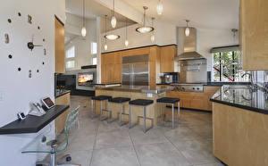 Обои Интерьер Дизайн Кухня Стол