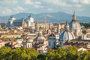 Обои Италия Рим Здания Купол Города