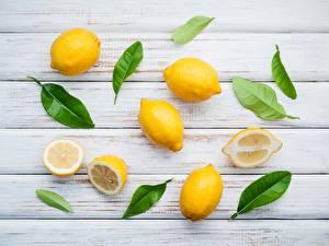 Фотография Лимоны Листва Пища